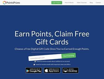 pointsprizes.com screenshot