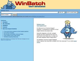techsupt.winbatch.com screenshot