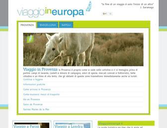 Main page screenshot of viaggioineuropa.it