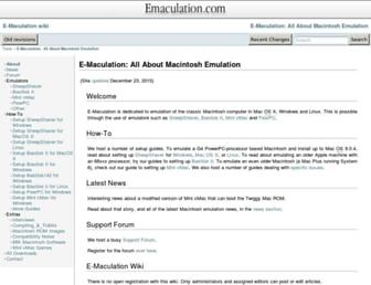 emaculation.com screenshot