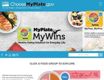 choosemyplate.gov screenshot
