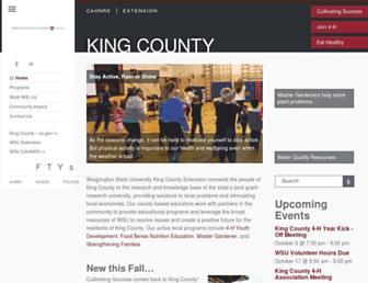 Main page screenshot of king.wsu.edu
