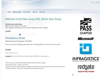 Main page screenshot of njsql.org
