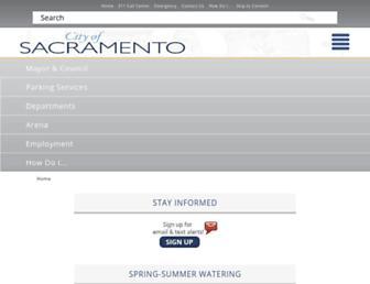 Thumbshot of Cityofsacramento.org