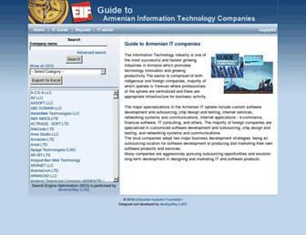 Main page screenshot of itguide.eif.am