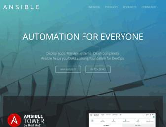 ansible.com screenshot