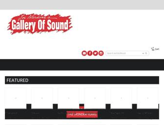galleryofsound.com screenshot