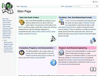 wiki.multimedia.cx screenshot