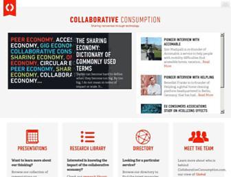 Thumbshot of Collaborativeconsumption.com