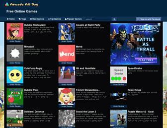 arcadeallday.com screenshot