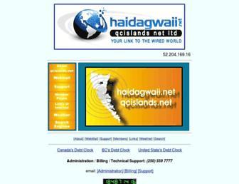 Main page screenshot of qcislands.net