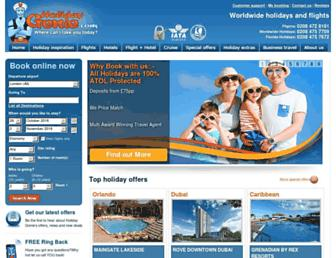 holidaygenie.com screenshot