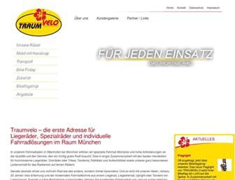 Main page screenshot of traumvelo.de