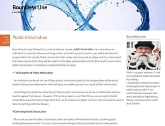Main page screenshot of boundlessline.org