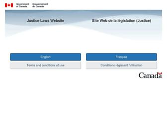 laws-lois.justice.gc.ca screenshot