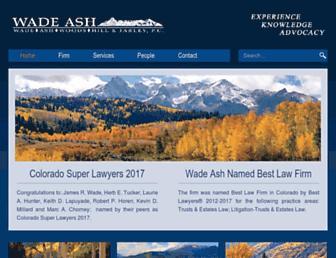 wadeash.com screenshot