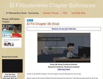 buod.elfilibusterismo.com screenshot