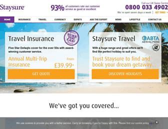staysure.co.uk screenshot