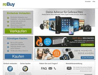 Main page screenshot of rebuy.de