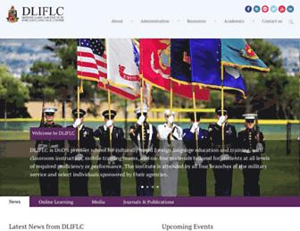 Main page screenshot of dliflc.edu