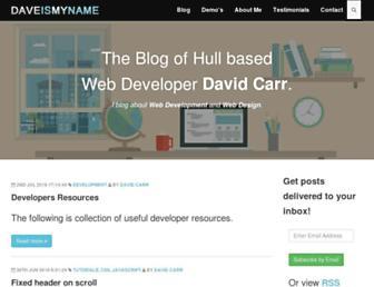 Thumbshot of Daveismyname.com