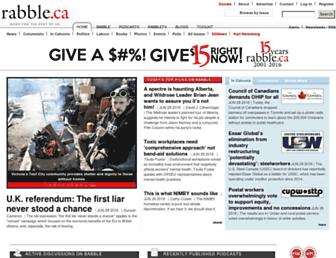 Main page screenshot of rabble.ca