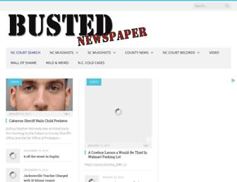 bustednewspaper.com screenshot
