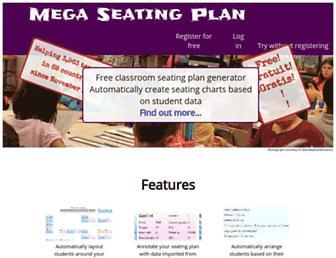 megaseatingplan.com screenshot