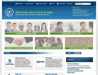 twc.texas.gov screenshot
