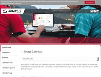 help.sigmasport.com screenshot