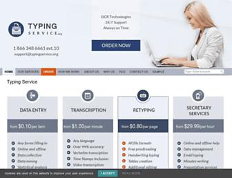 typingservice.org screenshot