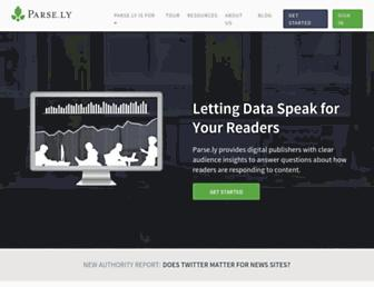 Thumbshot of Parsely.com