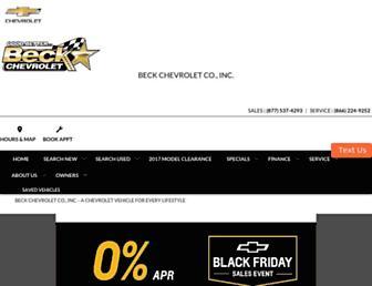 beckchevroletonline.com screenshot