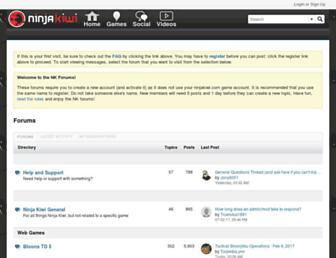 forums.ninjakiwi.com screenshot