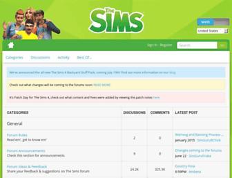 forums.thesims.com screenshot