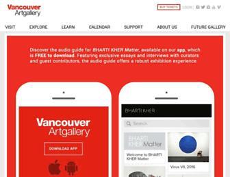 vanartgallery.bc.ca screenshot