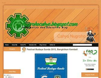 nugrohocahyo.blogspot.com screenshot