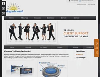 risingsoftech.com screenshot