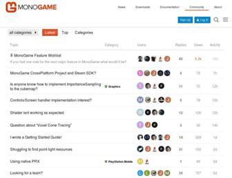 community.monogame.net screenshot