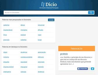dicio.com.br screenshot