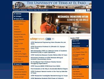 Thumbshot of Utep.edu