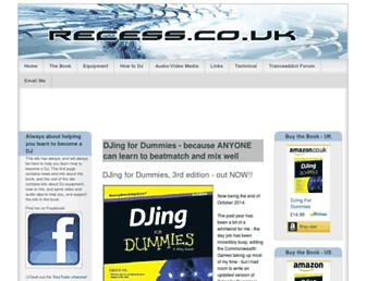 Main page screenshot of recess.co.uk