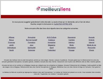 Main page screenshot of meilleursliens.be