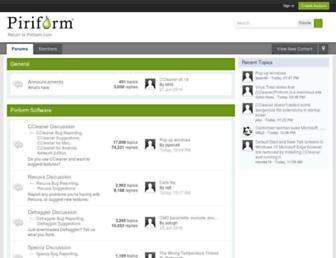 forum.piriform.com screenshot