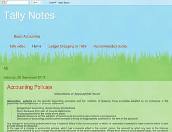 tallynotes.blogspot.com screenshot