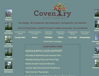Main page screenshot of coventryschools.net