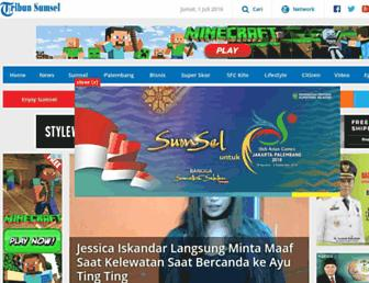 sumsel.tribunnews.com screenshot