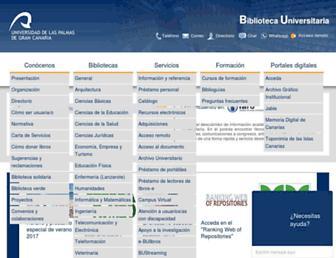 biblioteca.ulpgc.es screenshot