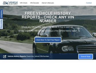 vehiclehistory.com screenshot