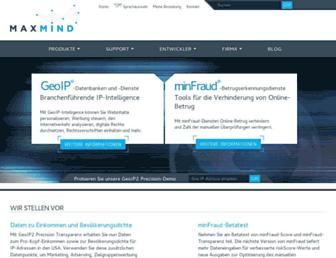 maxmind.com screenshot